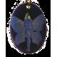 Pendant oval fairy butterfly