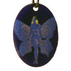 Pendant oval fairy butterfly
