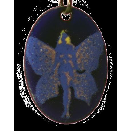 pendentif ovale la fée papillon