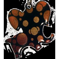 Pendentif éléphant bulles