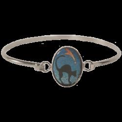 bracelet ovale chat dos rond à la comette