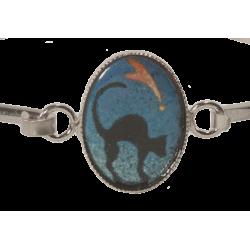 Bracelet ovale chat sous la comète