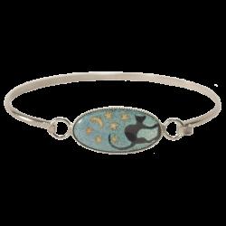 bracelet ovale long chat sous la voûte celeste