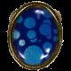 bracelet round adorned triskele in blue tone
