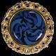 clip foulard triskel rond bleu