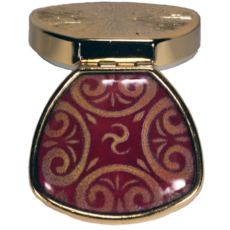 celtic box in red and gold
