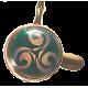 cendrier de poche rond orné d'un triskel