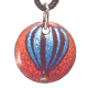pendant round hot air balloon at sunset