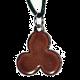 pendentif celtique triskel gwenn a du verso